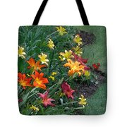 Lilies On Parade Tote Bag