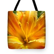 Lilies Orange Yellow Lily Flower 1 Giclee Art Prints Baslee Troutman Tote Bag