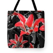 Lilies With A Splash Of Color Tote Bag
