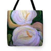 Lilies With Chiffon Tote Bag