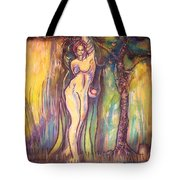 Lilith Satan Adam And The Fruit Tote Bag