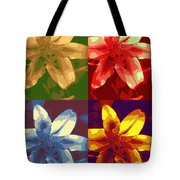 Lillies Of Four Tote Bag