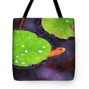 Lillies On Water Tote Bag