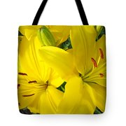 Lilly Flowers Art Prints Yellow Lilies Floral Baslee Troutman Tote Bag