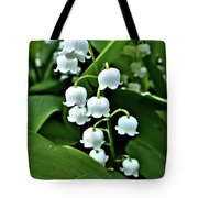 Lilly Of The Valley Flowers Tote Bag by Jeremy Hayden