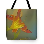 Lily Abstract Medium Background Medium Toned Flower Tote Bag