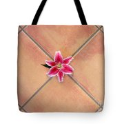 Lily Alone On Tile Tote Bag