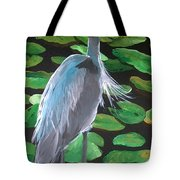 Lily And Egret Tote Bag