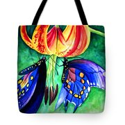 Lily And The Butterflies Tote Bag
