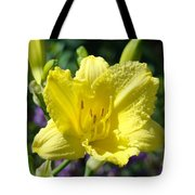 Lily Flower Art Print Canvas Yellow Lilies Baslee Troutman Tote Bag