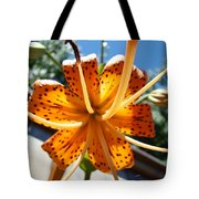 Lily Flower Artwork Orange Lilies 3 Giclee Art Prints Baslee Troutman Tote Bag