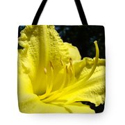 Lily Flower Artwork Yellow Lilies 1 Giclee Art Prints Baslee Troutman Tote Bag