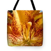 Lily Flower Macro Orange Lilies Floral Art Print Baslee Troutman Tote Bag