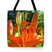 Lily Flowers Garden Art Prints Orange Lilies Floral Baslee Troutman Tote Bag
