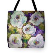 Lily Garden With Shadows And Light Tote Bag