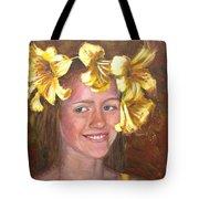 Lily Girl Tote Bag