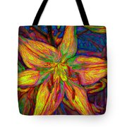 Lily In Abstract Tote Bag