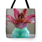 Lily In Antique Vase Tote Bag