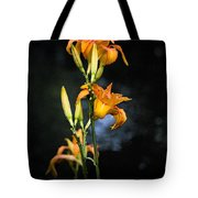 Lily In Monets Garden Tote Bag