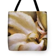 Lily In The Garden Neutral Tote Bag