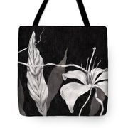 Lily In The Night Tote Bag