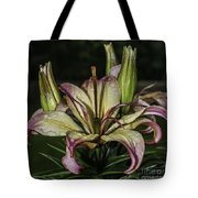 Lily In The Rain Tote Bag