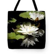 Lily Of The Lake Watercolor Tote Bag