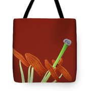 Lily On Red Tote Bag