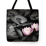 Lily Pad Blossoms Tote Bag