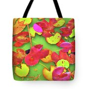 Lily Pad Faces Tote Bag
