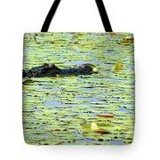 Lily Pad Gator Tote Bag