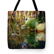 Lily Pad Reflection Oil Tote Bag