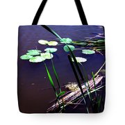 Lily Pads And Reeds Tote Bag