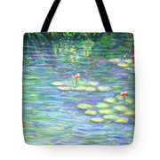 Lily Pads Triptych Panel Three Of Three Tote Bag