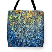 Lily Pads Water Lily Paintings Tote Bag