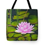 Lily Pond And Pink Tote Bag