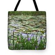 Lily Pond Panorama Tote Bag