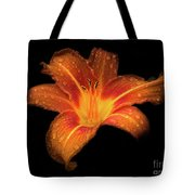 Lily Raindrops In Giverny, France Tote Bag