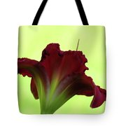 Lily Red On Yellow Green - Daylily Tote Bag