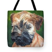 Lily, Soft Coated Wheaten Puppy Tote Bag