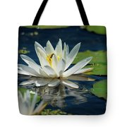 Lily With Bee Tote Bag