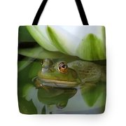 Lilyfrog - Frog With Water Lily Tote Bag