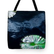 Lilypads And Sky Reflections Tote Bag