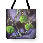 Lime And Violet In Harmony Tote Bag