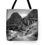 Lime Creek Bridge Highway 1 Big Sur Ca B And W Tote Bag
