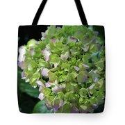 Lime-green Hydrangea Tote Bag