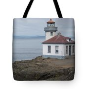 Lime Kiln Lighthouse Panorama Tote Bag