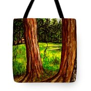 Lime Meadow Tote Bag