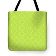 Lime Punch Quatrefoil Tote Bag