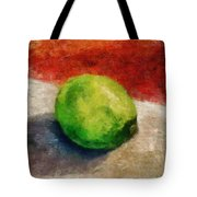 Lime Still Life Tote Bag by Michelle Calkins